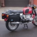 BMW R75/5 - 1973 - Pannier, Stand, Indicators, Rack, Rear Wheel and Silencer.