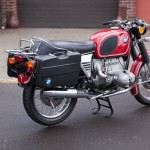 BMW R75/5 - 1973 - Right Side View, Rear Fender, Rear Light, Rack and Panniers.