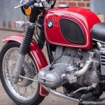 BMW R75/5 - 1973 - Carburettor, Engine, Cylinder Head, Spar Plug Lead and Kick Start.