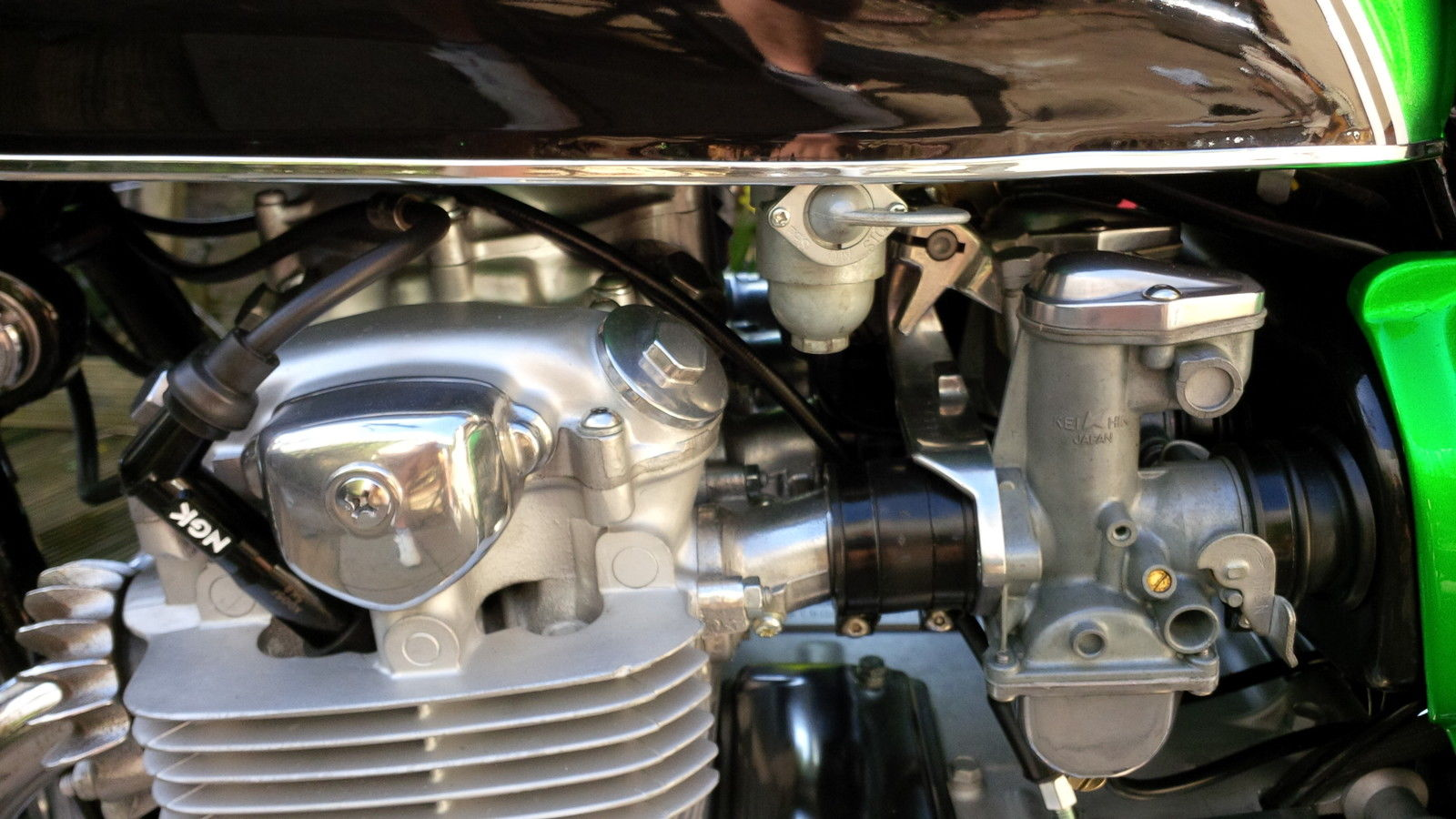 Honda CB500 Four - 1972 - Fuel Tap, Carburettor, Cylinder Head, Valve Adjustment.