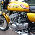 Kawasaki H2 750 - 1972 - Engine and Gearbox, Carburettors, Engine Covers, Airbox, Kawasaki Tank Decal and Side Panel.