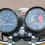 Kawasaki H2 750 - 1972 - Clocks, Speedo and Tacho, Ignition Switch, Rev Counter, Red Line, Running In Period Indicator and Damper.