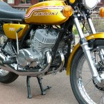 Kawasaki H2 750 - 1972 - Forks, Dust Covers, Front Wheel, Kick Start, Indicator, Main Stand and Reflector.