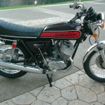 Kawasaki H1 500 - 1974 - Right Side View, Kick Start, Frame and Forks, Wheels Brake and Tyres, Rebuilt and Restored.