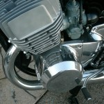 Kawasaki H1 500 - 1974 - Engine and Gearbox, Barrels and Heads, Carbs, Alternator Cover.