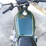 Kawasaki KZ900 - 1976 - Seat Cover, Petrol Tank and Cap.