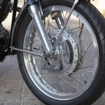 Norton Commando - 1972 - Front Wheel, Fender, Brake and Hub.
