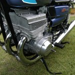Suzuki GT550 - 1973 - 550cc Two Stoke Triple, Ram Air Covers, Cylinder Heads and Barrels.