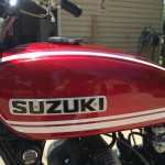 Suzuki T250 - 1972 - Suzuki Tank Badge and Gas Tank Decals.