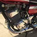 Suzuki T250 - 1972 - Frame, Carburettors, Cables, Main Stand and Footrest Rubber.