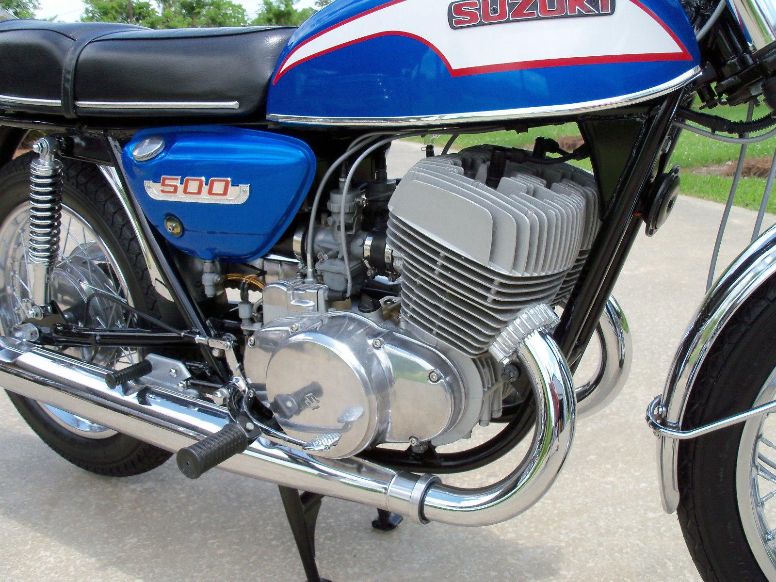 Restored Suzuki T500 1973 Photographs At Classic Bikes
