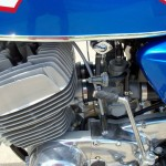 Suzuki T500 - 1973 - Engine and Gearbox, Kick Start, Chain Case and Carburettors.