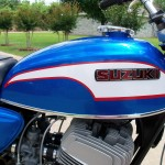 Suzuki T500 - 1973 - Gas Tank, Suzuki Badge, Chrome Trim.