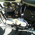 Triumph Bonneville - 1962 - Motor and Transmission, Primary Drive Chain Cover, Cylinder Head and Exhaust.