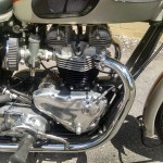 Triumph Bonneville - 1962 - Engine and Gearbox, Timing Chain Cover, Points Cover, Gear Change Lever and Footrest.
