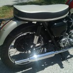 Triumph Bonneville - 1962 - Rear Fender, Rear Wheel, Shock Absorber, Muffler and Seat.