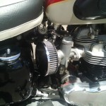 Triumph Bonneville - 1962 - Air Filters, Carburettors, Oil Tank and Seat.