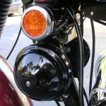 Triumph Bonneville - 1970 - Period Horns, Reflector and Cables.