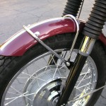 Triumph Bonneville - 1970 - Front Wheel, Fender, Spokes, Forks and Wheel Hub.