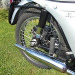 Triumph Speed Twin - 1964 - Swing Arm, Silencer, Rear Footrest and Chain Adjuster.