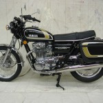 Yamaha XS650 - 1975 - Left Side View, Headlight, Flashers, Wheels, Brakes and Tyres, Frame and Forks, Carburettors, Stand and Cables.