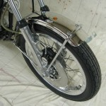 Yamaha XS650 - 1975 - Front Fender, Front Wheel, Caliper, Disc, Spokes, Wheel Rim and Hub.