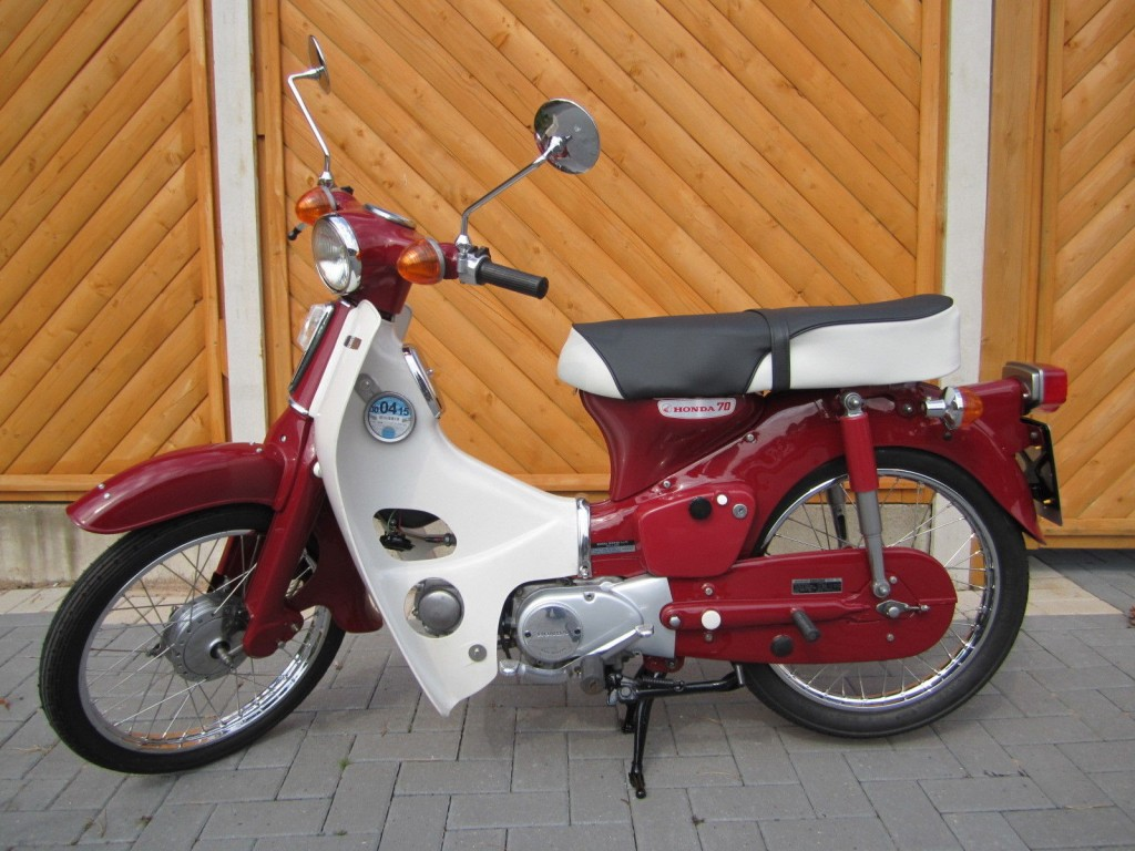 Restored Honda C70 1973 Photographs At Classic Bikes Restored Bikes Restored