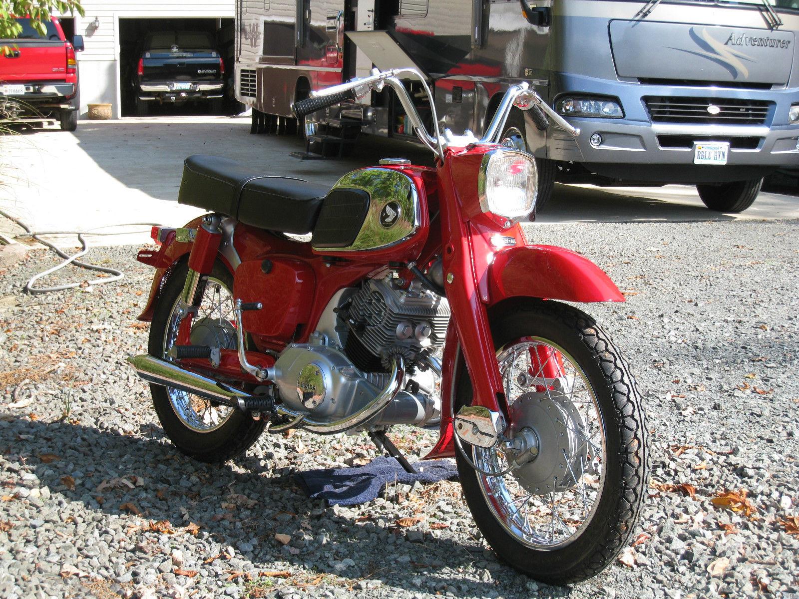restored honda ca95 1965 photographs at classic bikes restored rh bikesrestored com 1965 Honda Cub 50 1965 Honda Cub 55 Trail