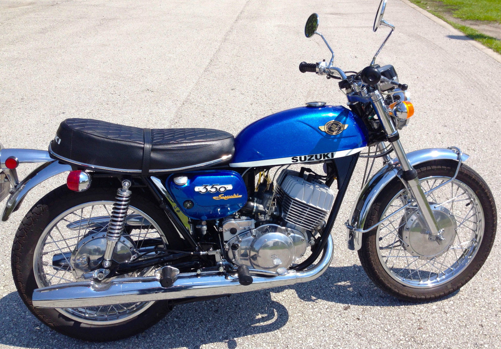 Restored Suzuki T350 - 1970 Photographs at Clic Bikes Restored ...