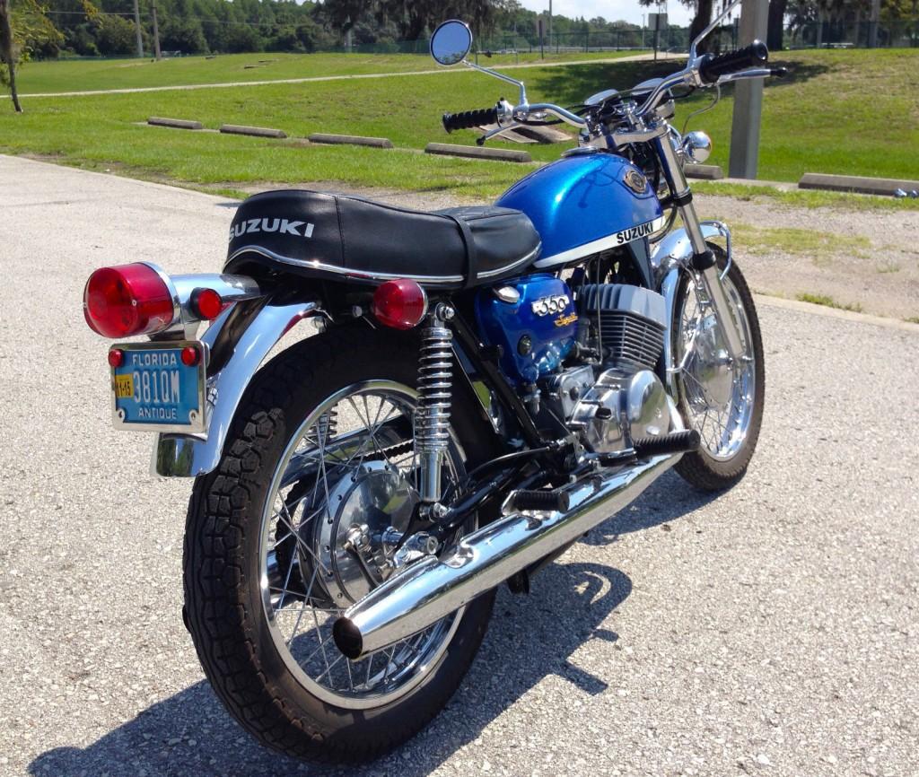 Restored Classic Motorcycles From 1970 At Bikes Honda Ct70 Blue Suzuki T350
