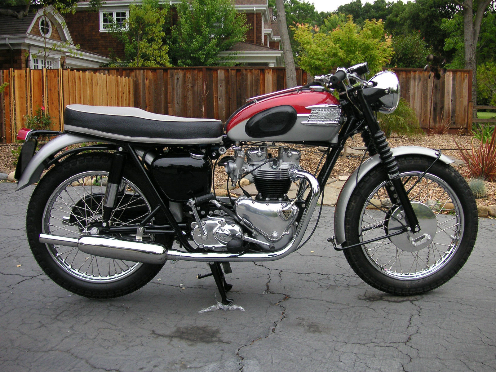 Restored Triumph Bonneville 1962 Photographs At Classic