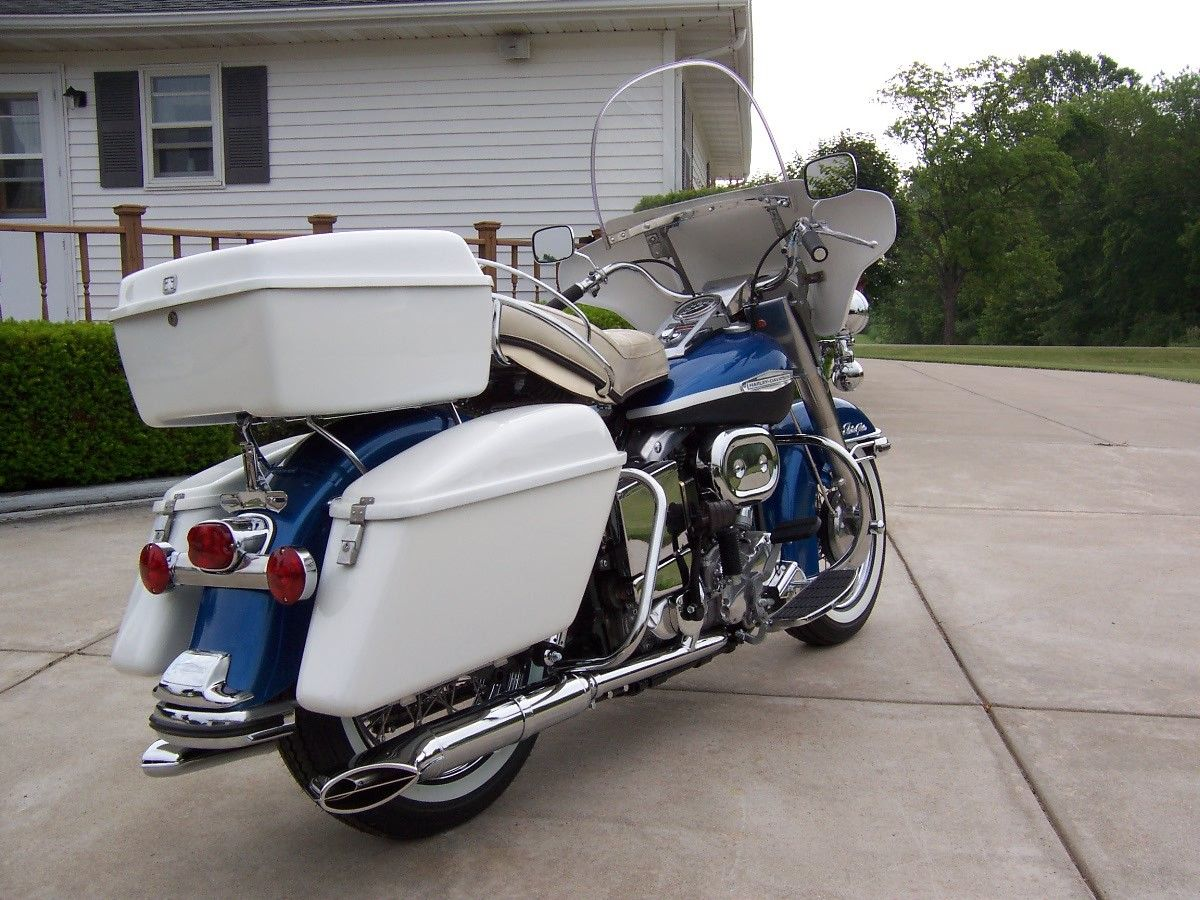 Restored Harley Davidson Flh Touring 1969 Photographs At
