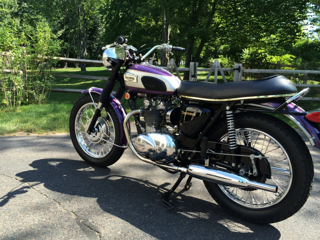 triumph daytona 1970 restored classic motorcycles at bikes restored bikes restored. Black Bedroom Furniture Sets. Home Design Ideas
