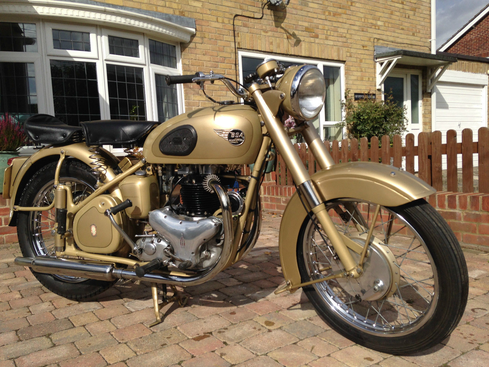 Restored Bsa A10 Gold Flash 1953 Photographs At Classic