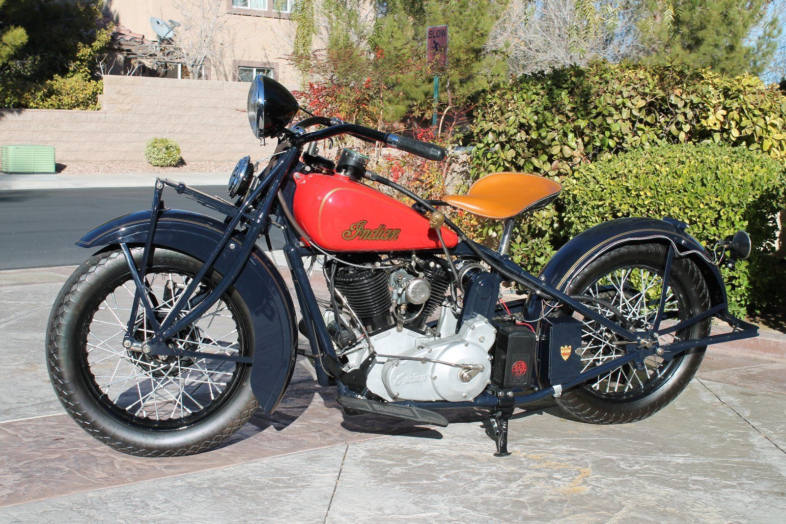 Restored Indian Chief 1934 Photographs At Classic Bikes