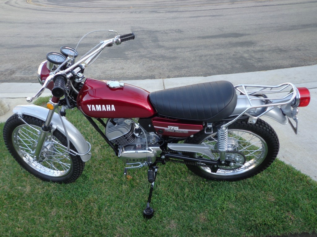 restored yamaha ct2 enduro 1972 photographs at classic bikes restored bikes restored. Black Bedroom Furniture Sets. Home Design Ideas