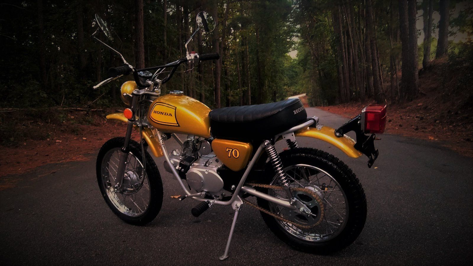 restored honda sl70 1973 photographs at classic bikes restored bikes restored. Black Bedroom Furniture Sets. Home Design Ideas
