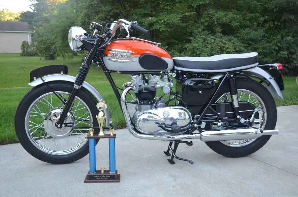 Restored Triumph Bonneville 1962 Photographs At Classic