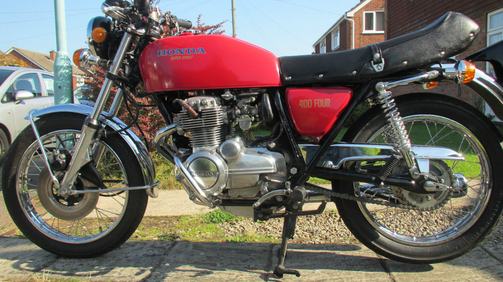 Restored honda cb400 4 1976 photographs at classic bikes for Honda cb400 for sale