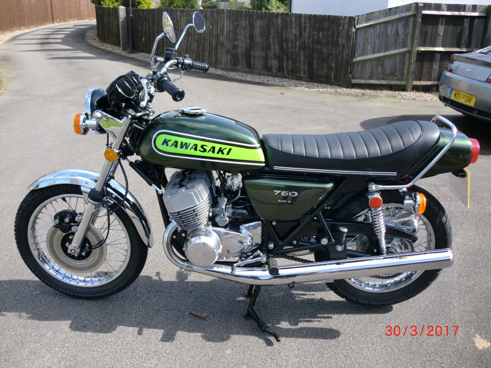 restored kawasaki h2 750 1974 photographs at classic bikes restored bikes restored. Black Bedroom Furniture Sets. Home Design Ideas